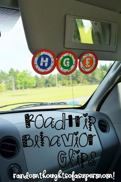 *Random Thoughts of a SUPERMOM!*: Roadtrip Ready: Roadtrip Behavior Clips