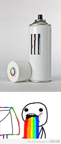 a full set of Faber Castell in a spray can.