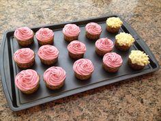 Lemon cupcakes with Rasberry buttercream