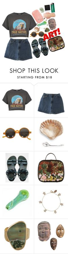 """summer laze"" by imagicality ❤ liked on Polyvore featuring River Island, Wrangler, Free People, Chanel, Cath Kidston and Polaroid"