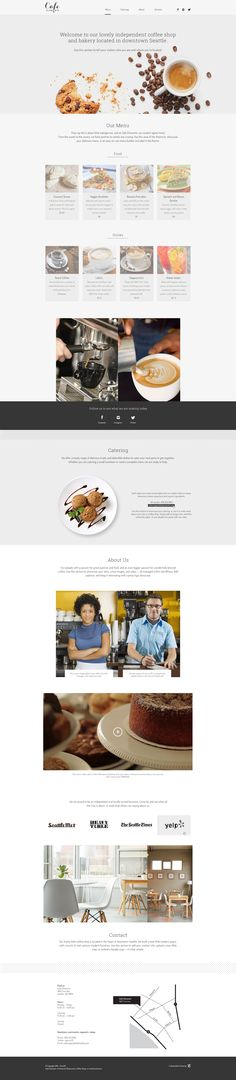 A lovely #cafe or small business #WordPress theme.
