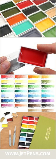 The individual pans of the Kuretake Gansai Tambi Watercolors are now available!