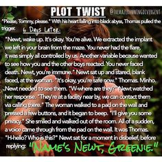 The Maze Runner Newt Plot Twist<<<BLESS THE SOUL WHO MADE THIS<<why the heck was this not the way it ended