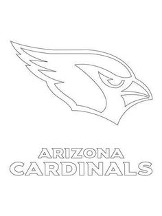 Arizona Cardinals Logo coloring page from NFL category. Select from 26956 printable crafts of cartoons, nature, animals, Bible and many more. Football Coloring Pages, Sports Coloring Pages, Spring Coloring Pages, Bird Coloring Pages, Cat Coloring Page, Online Coloring Pages, Free Printable Coloring Pages, Adult Coloring Pages, Coloring Sheets