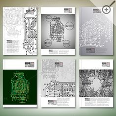Brochure with technical backgrounds by VectorShop on Creative Market