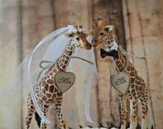 Giraffe wedding cake topper jungle safari zoo circus themed wedding bride and groom Mr and Mrs wedding sign kissing animal decorations lover Wedding Advice, Wedding Pics, Wedding Themes, Wedding Bride, Wedding Ideas, Themed Weddings, Dream Wedding, Wedding Inspiration, Tarzan Und Jane