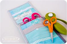 Got fabric scraps? Make a fun pouch with this easy tutorial. | Go To Sew - add a couple of pockets