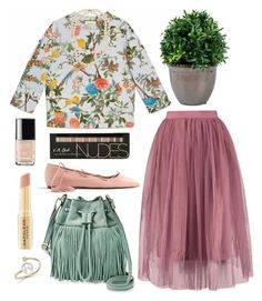 """""""Untitled #4932"""" by prettyorchid22 ❤ liked on Polyvore featuring Gucci, J.Crew, FOSSIL, Chanel, Napoleon Perdis, Belpearl and ZoÃ« Chicco"""