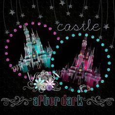 disney castle after dark... beautiful <3