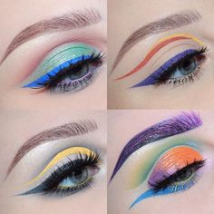 Some recent looks I've done of course all winged out cut creases & graphic liner   scroll down my page if you want the details on a specific look #beccaboo318 by beccaboo318