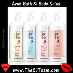 Bath & Body Sale & Specials by AVON. Explore Avon's site full of your favorite products, including cosmetics, skin care, jewelry and fragrances. Bath And Body Sale, Avon Skin So Soft, Avon Online, Body Care, Lotion, Moisturizer, Campaign, Skin Care, Free Shipping