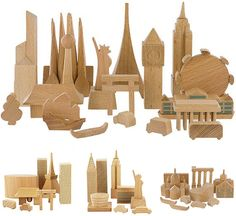 Cities-In-A-Bag by MUJI are wooden blocks wonderfully carved as cityscapes from around the globe. Get a bag of New York, London, Tokyo, Paris, Barcelona, Germany, and Italy. Or, you could just buy the World in a Bag (pictured at the top)! These were my go-to gift for friends-in-foreign-countries for a while. Gotta love Muji. via woodswoodswoods / bauldoff