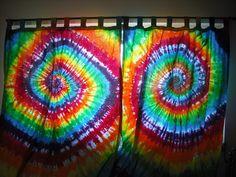 tye dye curtains for big windows | Tie dye Custom Curtains by DoYouDreamOutLoud on Etsy