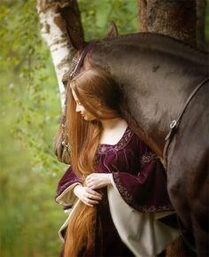 Long hair + horses