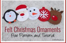 felt Christmas costers