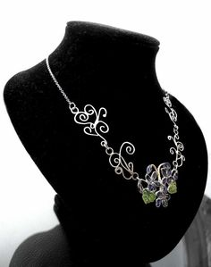 Viola | Silver Enamelled Necklace - product images  of SCHJ  #silvernecklace #necklace #silverjewellery #jewelry #jewellery #jewellerystore #jewelleryboutique #handmadejewellery #uniquejewellery #gifts