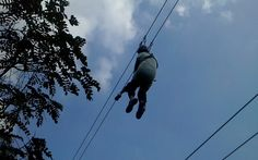 Face our fear.. flying fox @ Jendela Alam