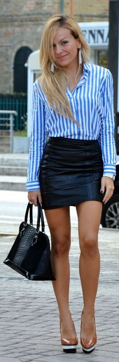 #Black #Leather #Skirt by It-Girl