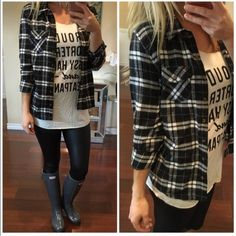 This is the perfect flannel shirt to go with EVERYTHING! Wear it on it's own or over an adorable tank top! Button up front shirt with 2 tab top pockets and roll tab sleeves. Super flattering, soft and