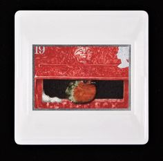 """Christmas Brooch """"European Robin in the Mouth of a Pillar Box"""" issued in 1995 Vintage Royal Mail Used Postage Stamp Brooch/ Badge/Pin Royal Mail Stamps, True Colors, Colours, European Robin, Presentation Cards, Postage Stamps, Brooches, Festive, Touch"""