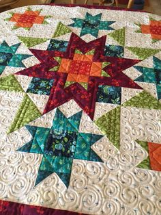 More than Stars quilt pattern by Nancy Rink Designs, nancyrinkdesigns.com Stunning!                                                                                                                                                      More