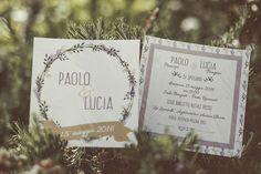 lavender inspired wedding invitation