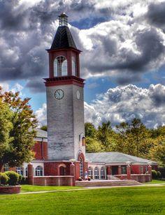 Quinnipiac University, Hamden, CT - Library Clocktower  photo by Susan Ferency