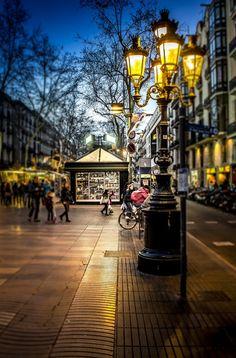 Barcelona, Ramblas by Luc Mercelis