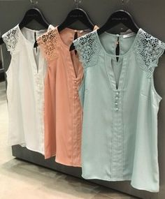 31 Trendy Sewing Tops For Women Blouses Inspiration Blouse Styles, Blouse Designs, Chic Outfits, Fashion Outfits, Kids Dress Wear, Sewing Blouses, Couture Tops, Dress Patterns, Blouses For Women