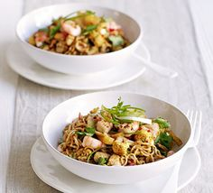 A lean Asian-style rice noodle stir-fry flavoured with soy, chilli and coriander and packed with vegetable goodness