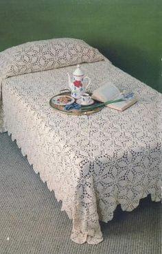 Classic Motif Bedspread Crochet Pattern PDF Download