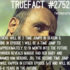 2 time jumps in Walking Dead Facts, Walking Dead Quotes, Walking Dead Season 9, The Walking Dead 2, Walking Dead Tv Series, Twd Memes, Funny Memes, Dead Inside, True Facts