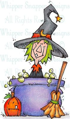 Witch's Brew - Halloween Images - Halloween - Rubber Stamps
