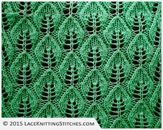 LACE KNITTING #3   Embossed Leaf Lace stitch