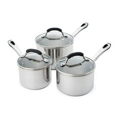 Raco Contemporary Stainless Steel 3pc Saucepan Set