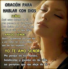 Oracion para hablar con Dios