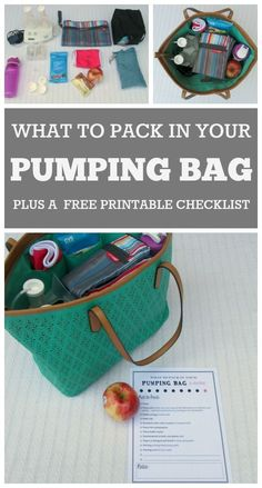 How to pack your pumping bag: A great article for new moms going back to work who want to keep breastfeeding. Includes a printable checklist of things to include in your pumping bag. *** More info could be found at the image url. Pumping Bag, Pumping At Work, Breastfeeding And Pumping, After Baby, Baby Arrival, Pumps, Pregnant Mom, First Time Moms, Working Moms
