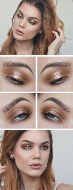 Bronze smokey eye - perfect use of palette 1