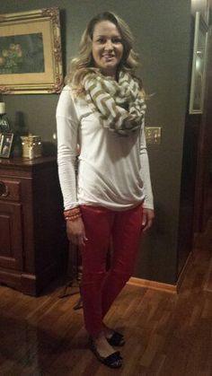 Teacher Clothing Blog Red Skinnies
