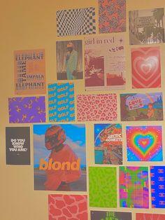 Cute Room Ideas, Cute Room Decor, Teen Room Decor, Indie Room Decor, Bedroom Wall Collage, Photo Wall Collage, Bedroom Posters, Picture Wall, Aesthetic Indie