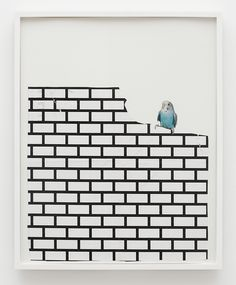 Francis Stark -Bird and Bricks 2008  Collage on paper  29 × 24""