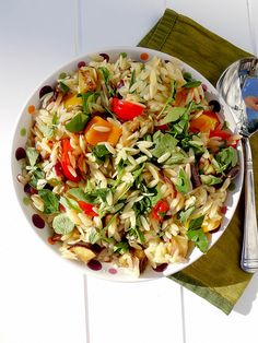 grilled vegetable orzo salad