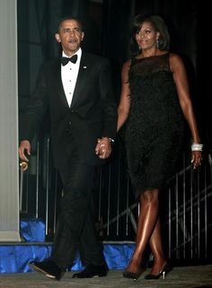 President Barak Obama cf...  1st Lady Michelle Obama..