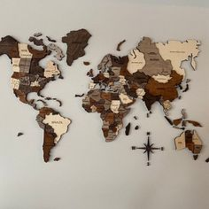 Wood World Map, World Map Decor, World Map Wall Art, Wall Maps, Anniversary Gifts For Husband, Large Wall Art, Wood Wall Art, Wall Art Decor, Travel Box