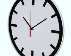 Wohnaccessoires - Scandi Clock - hölzerne Uhr weiß 30 cm - ein Designerstück von Silva-Design-Drewniane-Dekoracje bei DaWanda