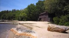 The Camp Sandy Beach Waterfront in spring at Camp #Yawgoog.  A video recorded on June 7, 2015, by David R. Brierley.
