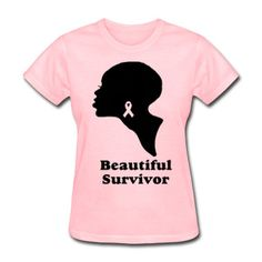 Handscreened Original Breast Cancer T-shirt  (S,M,L,XL,1X,2X,3X). $25.00, via Etsy.