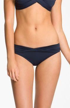 These are supposed to be really well-fitting. Then I could get a top that is more sassy and interesting to go with. Seafolly 'Goddess' Hipster Bikini Bottoms | Nordstrom