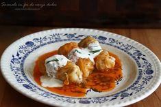 Sarmale in foi de varza murata, reteta video Romanian Food, Thai Red Curry, Vegetarian, Menu, Yummy Food, Vegan, Chicken, Cooking, Ethnic Recipes