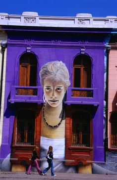 Santiago - Chile, interesting color and mural Graffiti Murals, Mural Art, Andes Mountains, Public Art, Chile, Facade, Street Art, The Past, Places